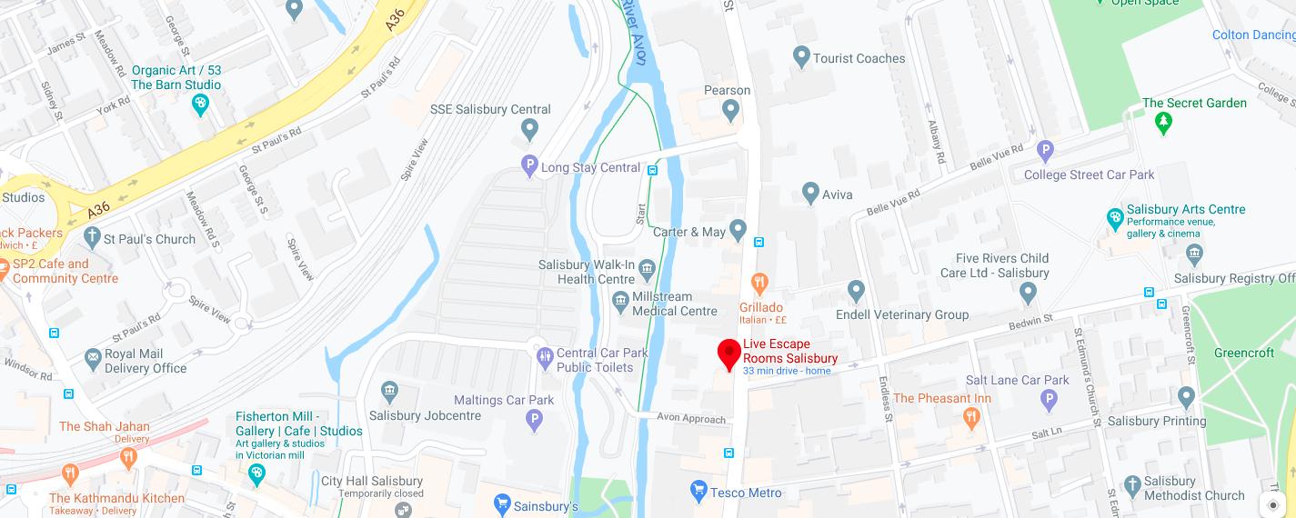 Where is Live Escape Rooms Salisbury
